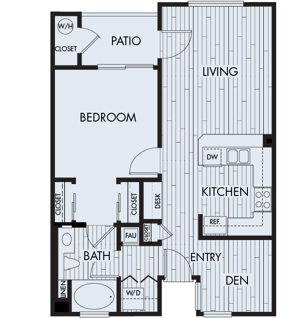Park sierra at iron horse trail apartments dublin floor plan 1b