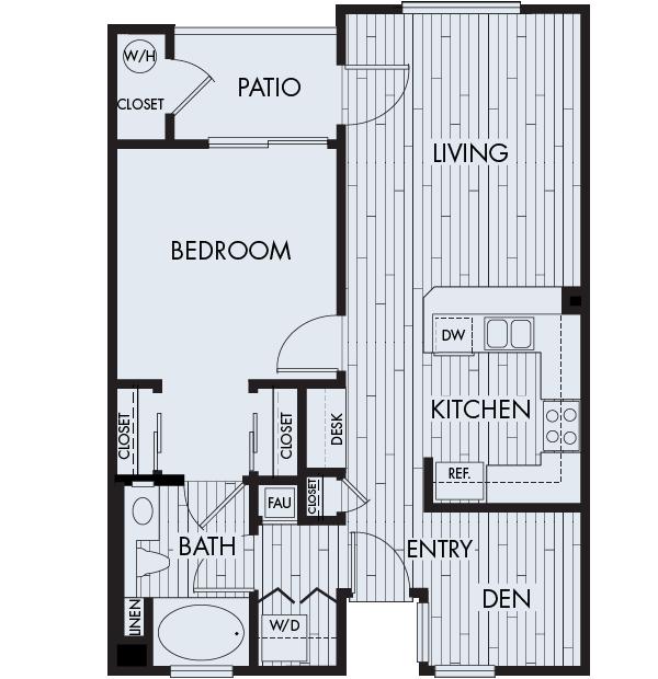 Park Sierra Affordable Apartments in Dublin Plan 1B