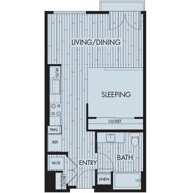 Symmetry apartments northridge studio one bathroom floor plan sa