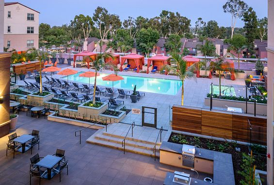 Reata oakbrook village apartments laguna hills amenity outdoor pool space