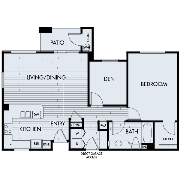Park sierra at iron horse trail apartments dublin floor plan 1C
