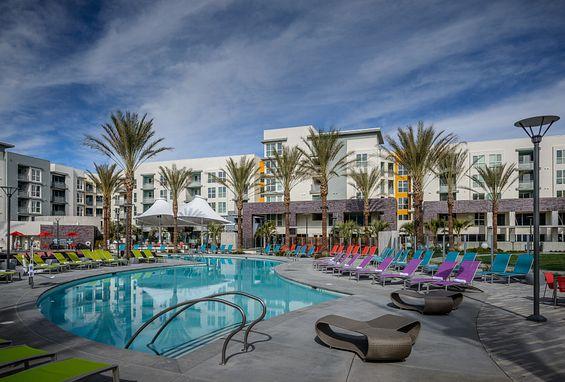 Ascent Apartments San Jose Amenity Pool Sundeck