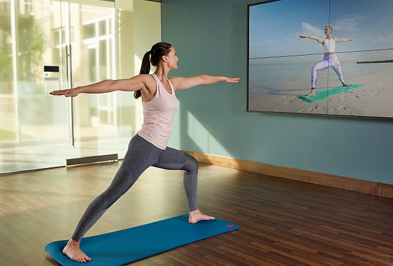 Motion studio with self-guided workouts the quincy downtown denver apartments