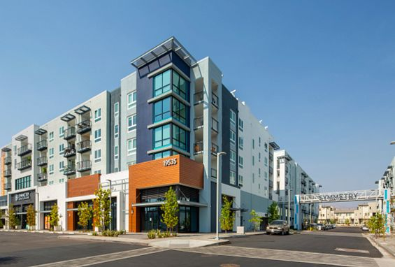 Symmetry apartments northridge building exterior