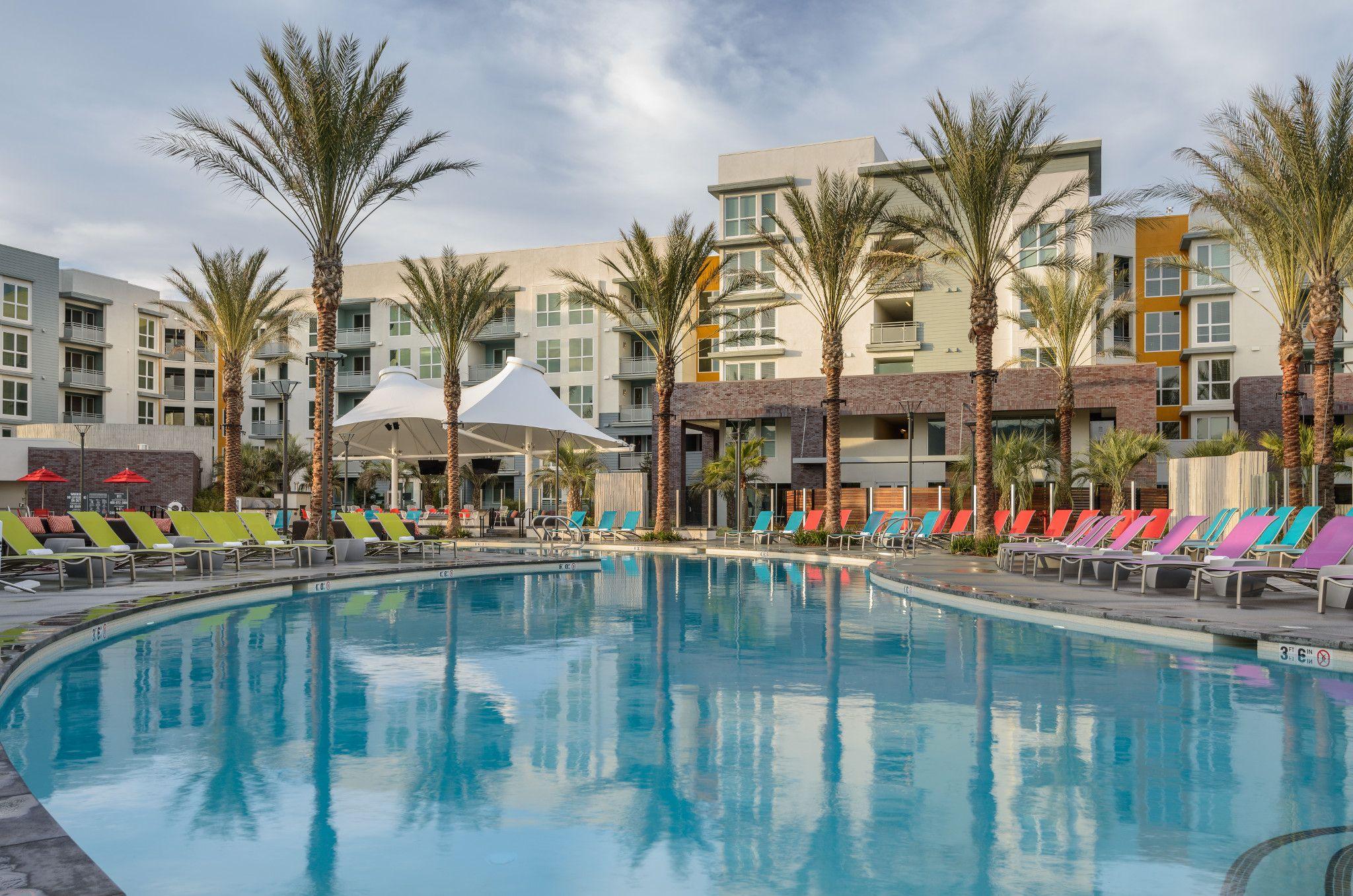 ascent apartments san jose amenity pool