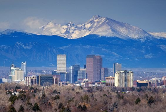 Denver Colorado Downtown Denver Skyline