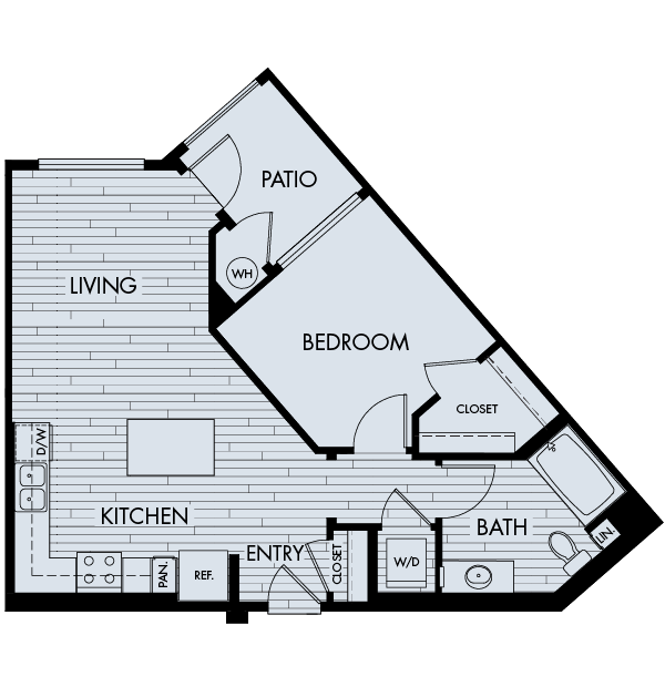 Vantis Affordable Apartments in Aliso Viejo Plan 1B