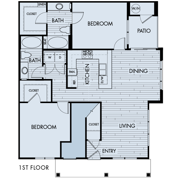 Lucent Blvd Apartments Highlands Ranch 2 bedrooms 2 baths Plan 2C