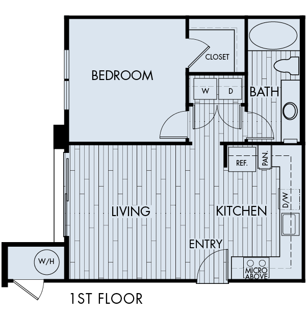 Lucent Blvd Apartments Highlands Ranch 1 bedroom 1 bath Plan 1A