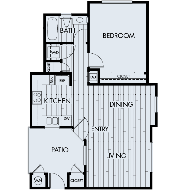 Park sierra at iron horse trail apartments dublin floor plan 1A