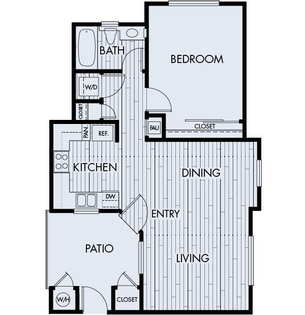 Park Sierra Affordable Apartments in Dublin Plan 1A