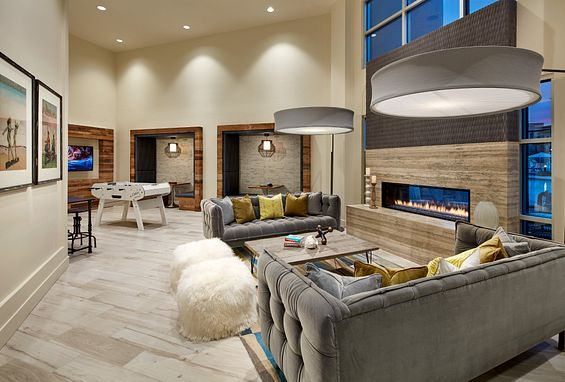 Resident Lounge at Vantis Apartments in Aliso Viejo, CA offers billiards