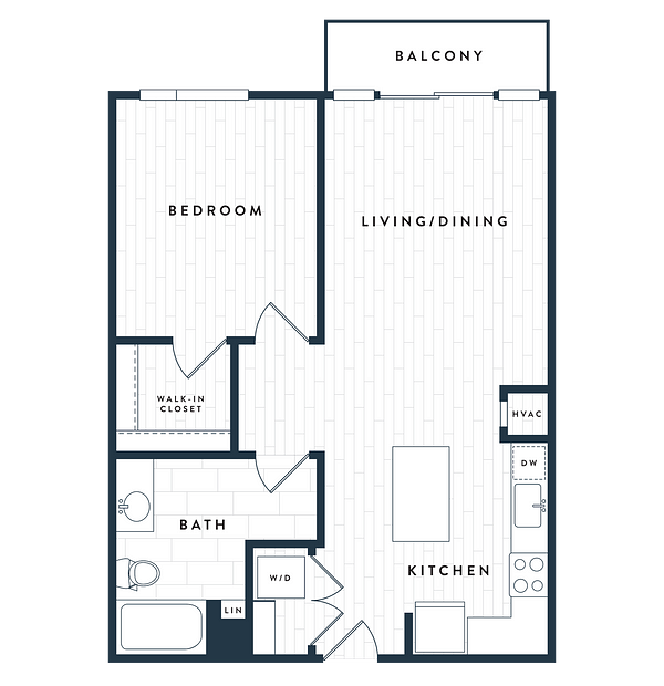 Tangent Apartments Denver Tech Center 1 bedroom 1 bath Plan 1C
