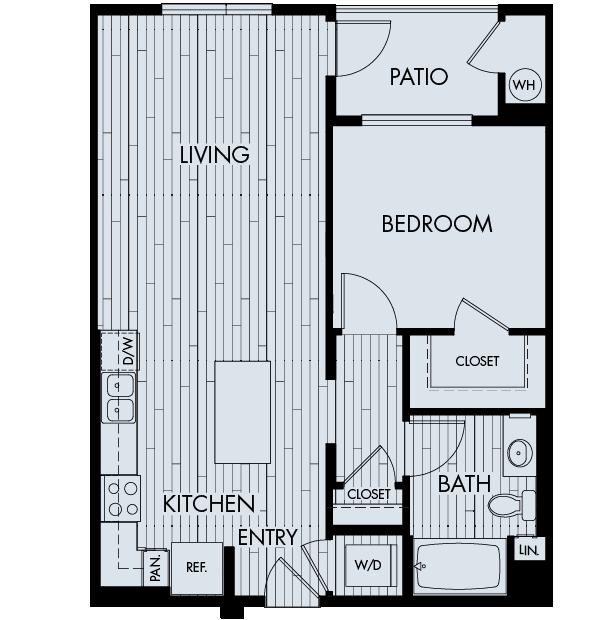 Vantis Affordable Apartments in Aliso Viejo Plan 1C