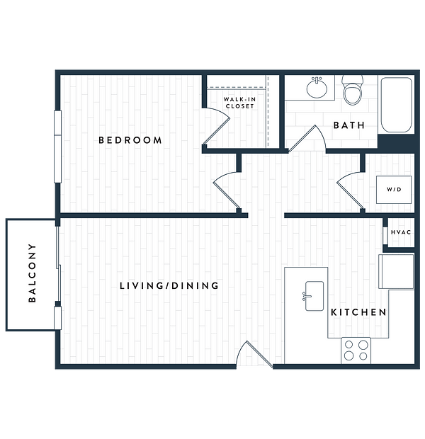 Tangent Apartments Denver Tech Center 1 bedroom 1 bath Plan 1B