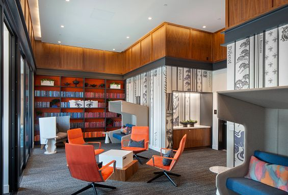 Symmetry apartments northridge amenity Co-Lab