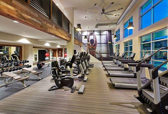 Fitness center at Vantis Apartments in Aliso Viejo, CA