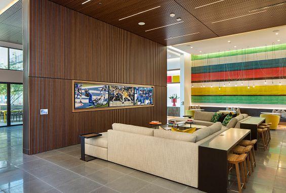 Symmetry apartments northridge amenity Spirits + Screens lounge