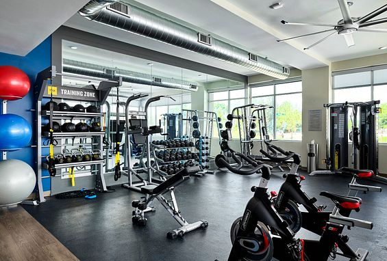 Tangent Apartments Denver Tech Center Gym Amenity
