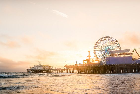 Southern california los angeles apartments attractions santa monica pier