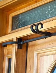 Balsam Hill garland hanger on door