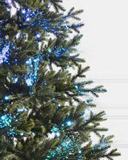 Multicolored fiber optic Christmas tree lights