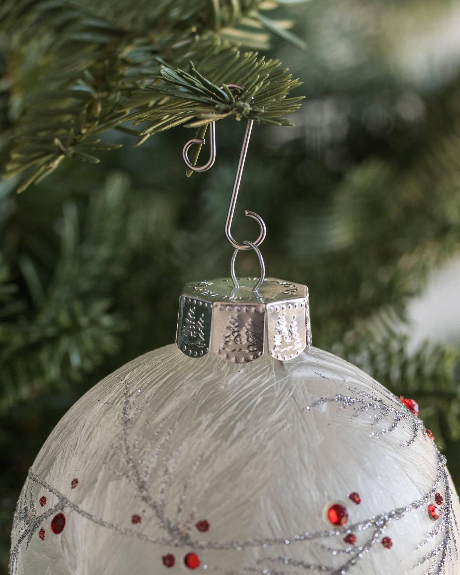 Heavy duty ornament hooks -  Silver Ornament Hooks Set Of 100 Alt