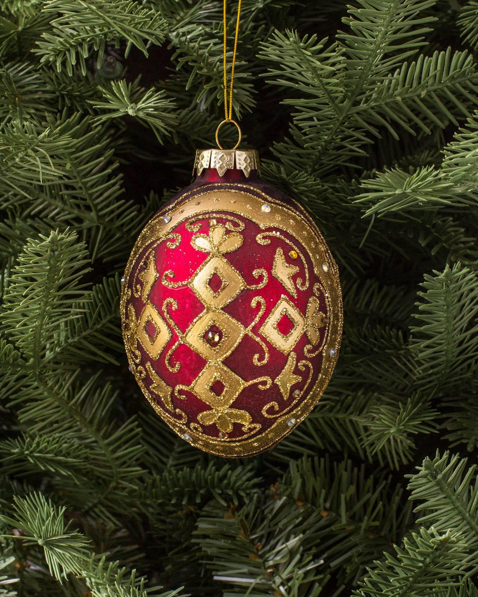 Auburn christmas ornaments -  Noel Glass Ornament Set 35 Pieces Alt Alt