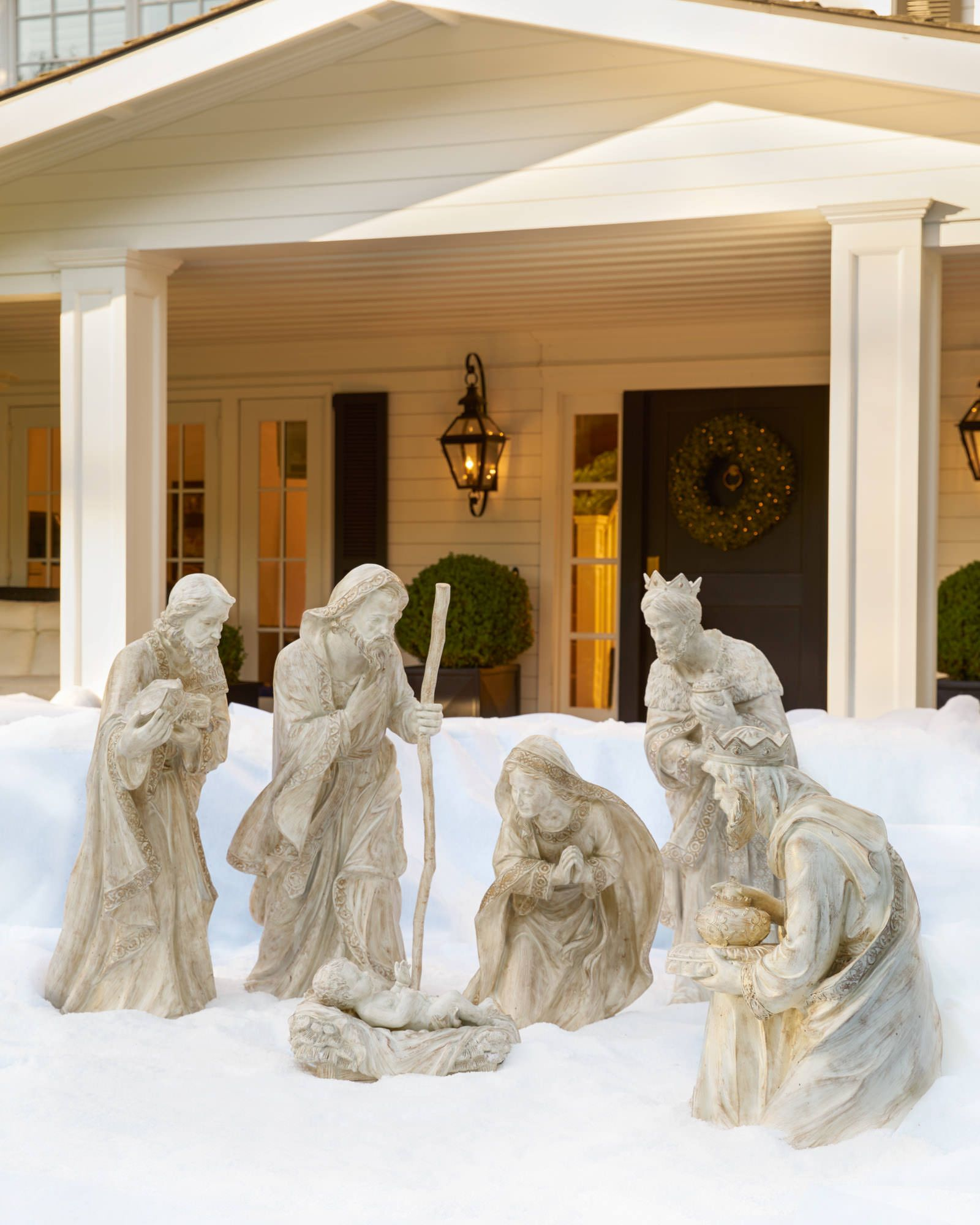 Decorative Accents For Home Outdoor Nativity Set Balsam Hill