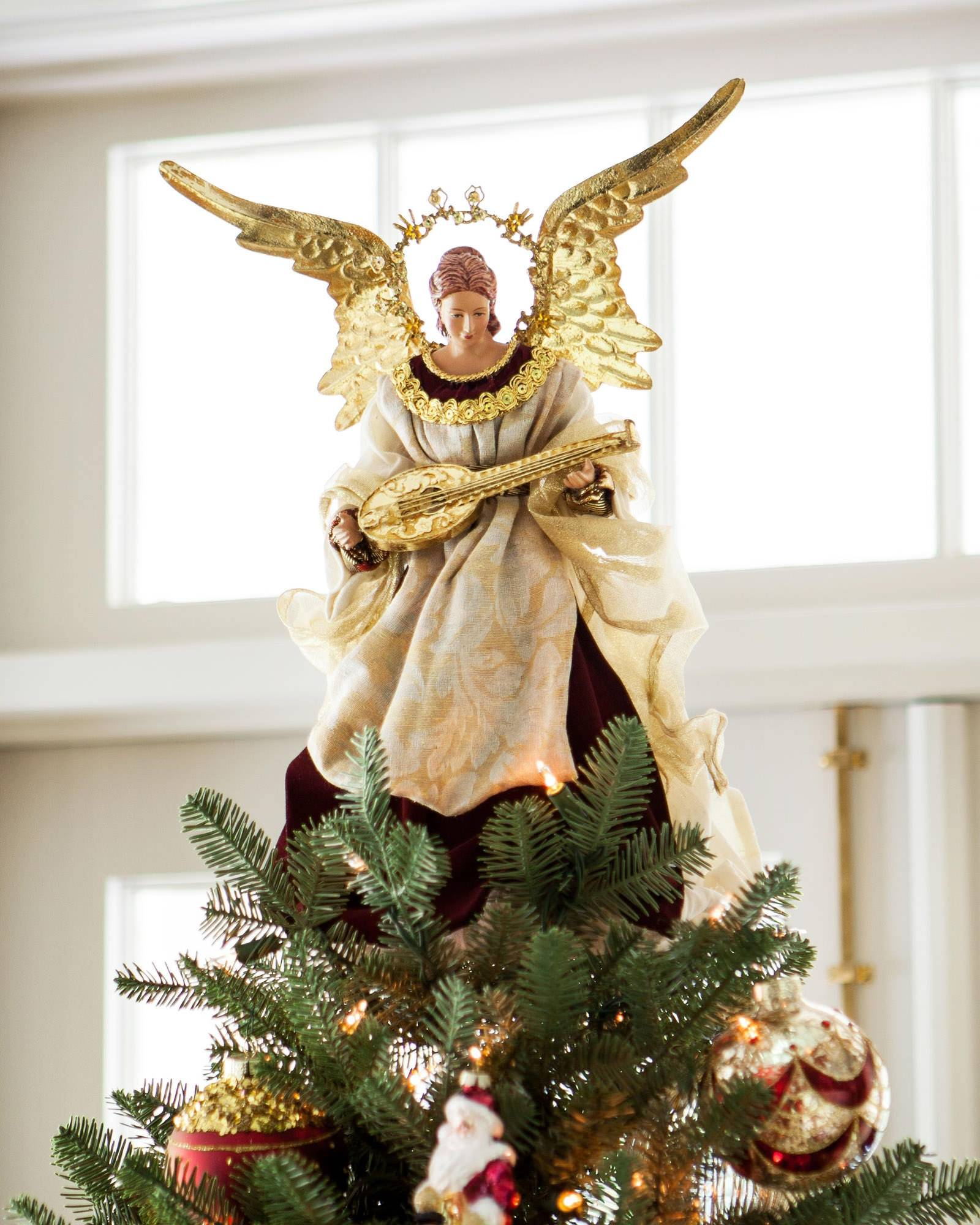 Angel christmas tree topper balsam hill for Christmas angels