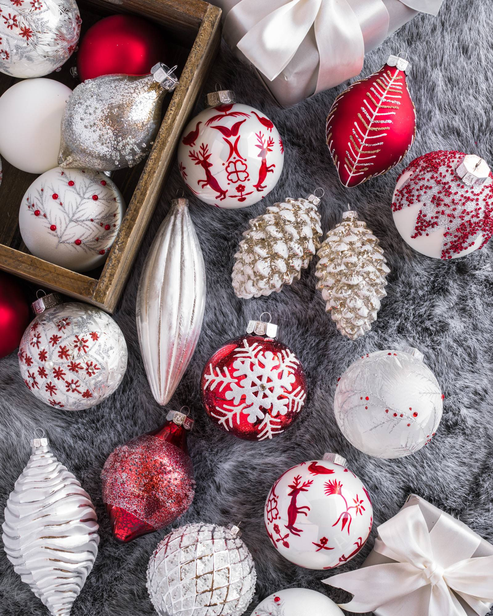 Nordic christmas ornaments - Nordic Frost Ornament Set 25 Pieces Main