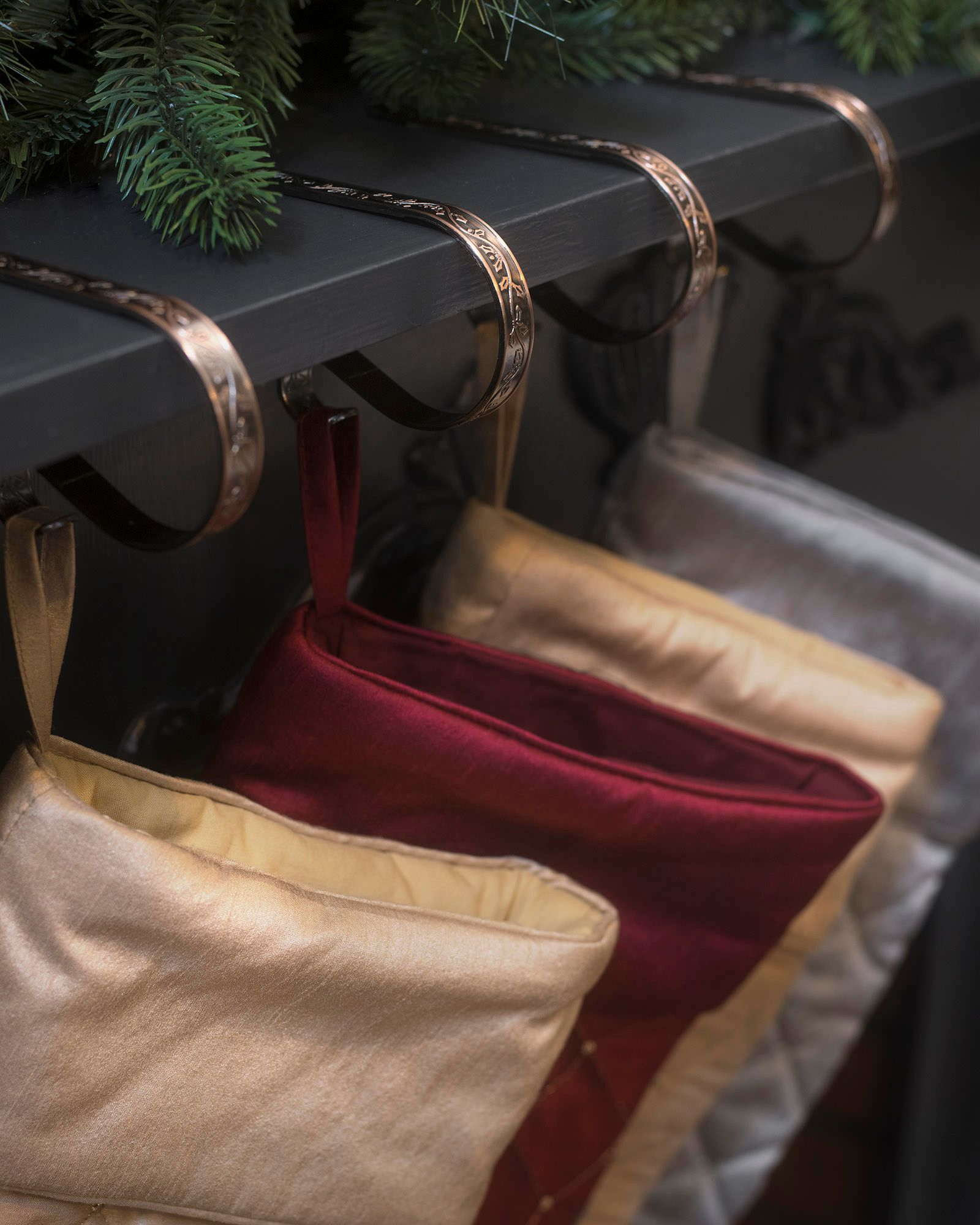 Brass Christmas Stocking Holders For Mantle