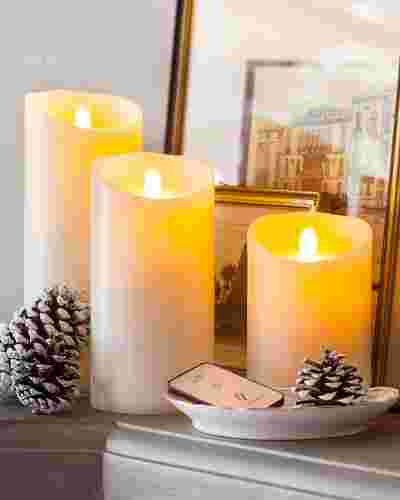 Small Battery-Operated Pillar Candle Main