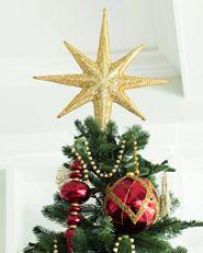 beaded star Christmas tree topper