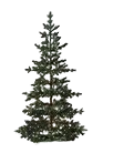 sparse artificial Christmas tree