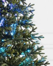 Multicolored fiber optic Christmas tree lights
