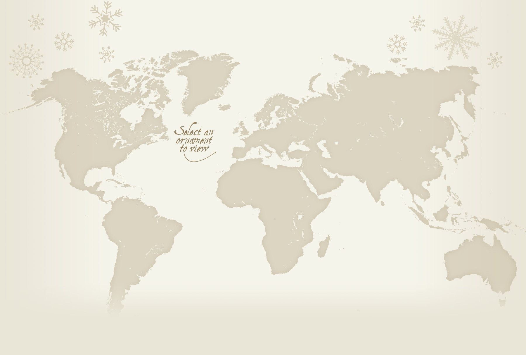 Christmas Decorations Around The World - Map Background