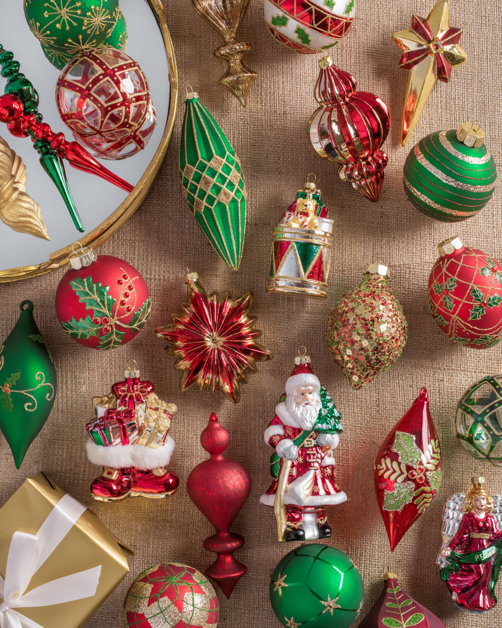 Christmas tree ornaments sets - Christmas Cheer Ornament Set Main