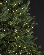 LED light string strands on tree