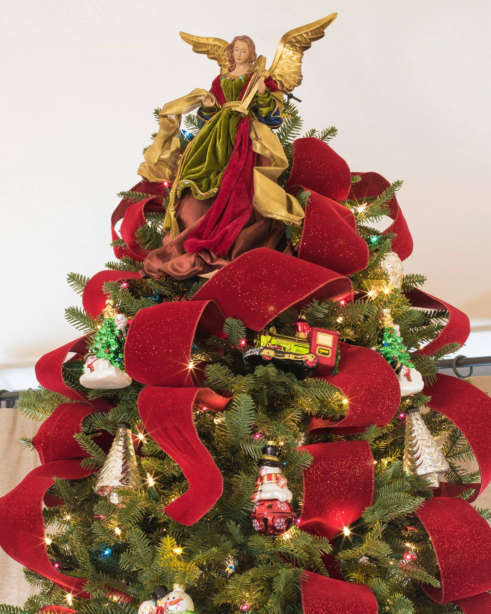 Bold Red Christmas Tree Ribbon