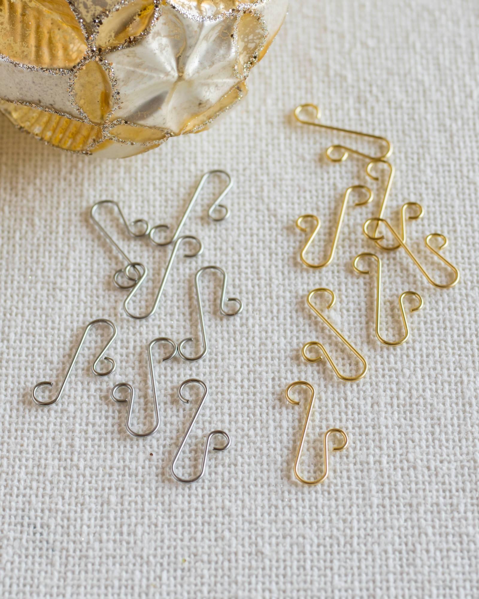 Heavy duty ornament hooks - Gold Ornament Hooks Set Of 100 Main