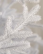 white Christmas tree branches