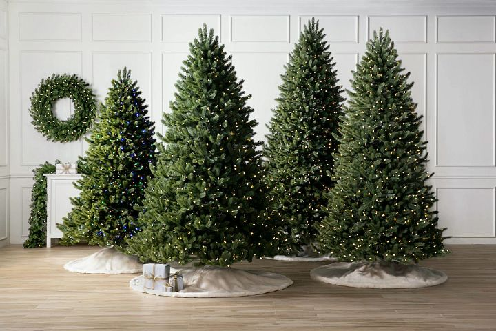 different artificial Christmas tree sizes