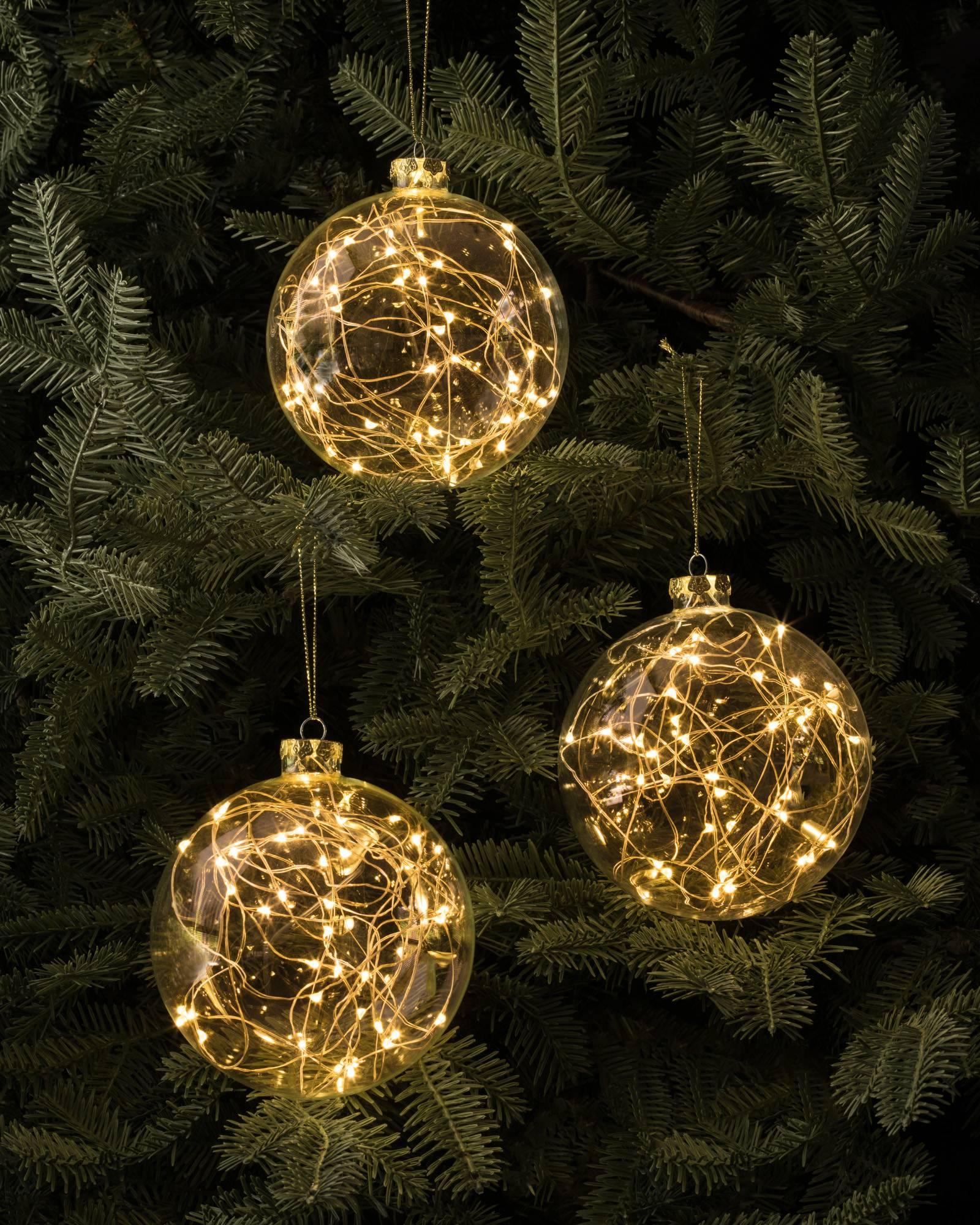 Fairy christmas ornaments - Led Fairy Light Ornaments Set Of 3 Main