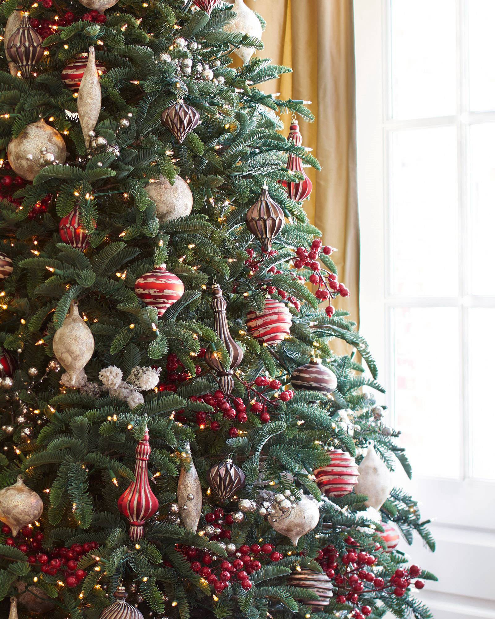 BH Noble Fir Narrow Artificial Christmas Tree | Balsam Hill