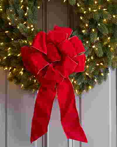 Red Pre-Made Wired Ribbon Bows Main