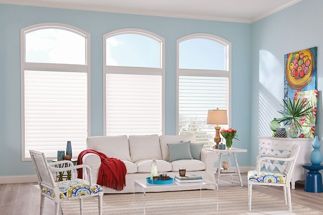 Sheer Shades with Continuous-Loop Lift: Grafton, Cherry Blossom 6125