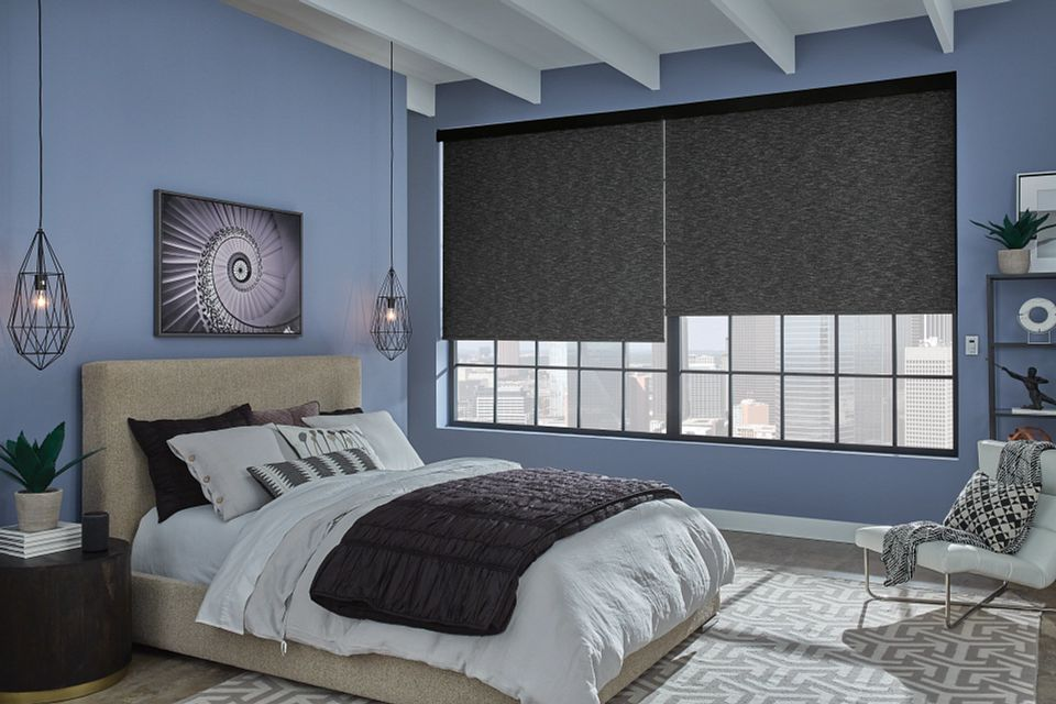 Roller Shade with Motorized Lift, Fabric-Wrapped Hem Bar