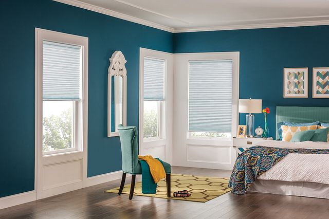 """1"""" Pleated Shades with Cordless Lift, Melody, Wishing Well 1950"""