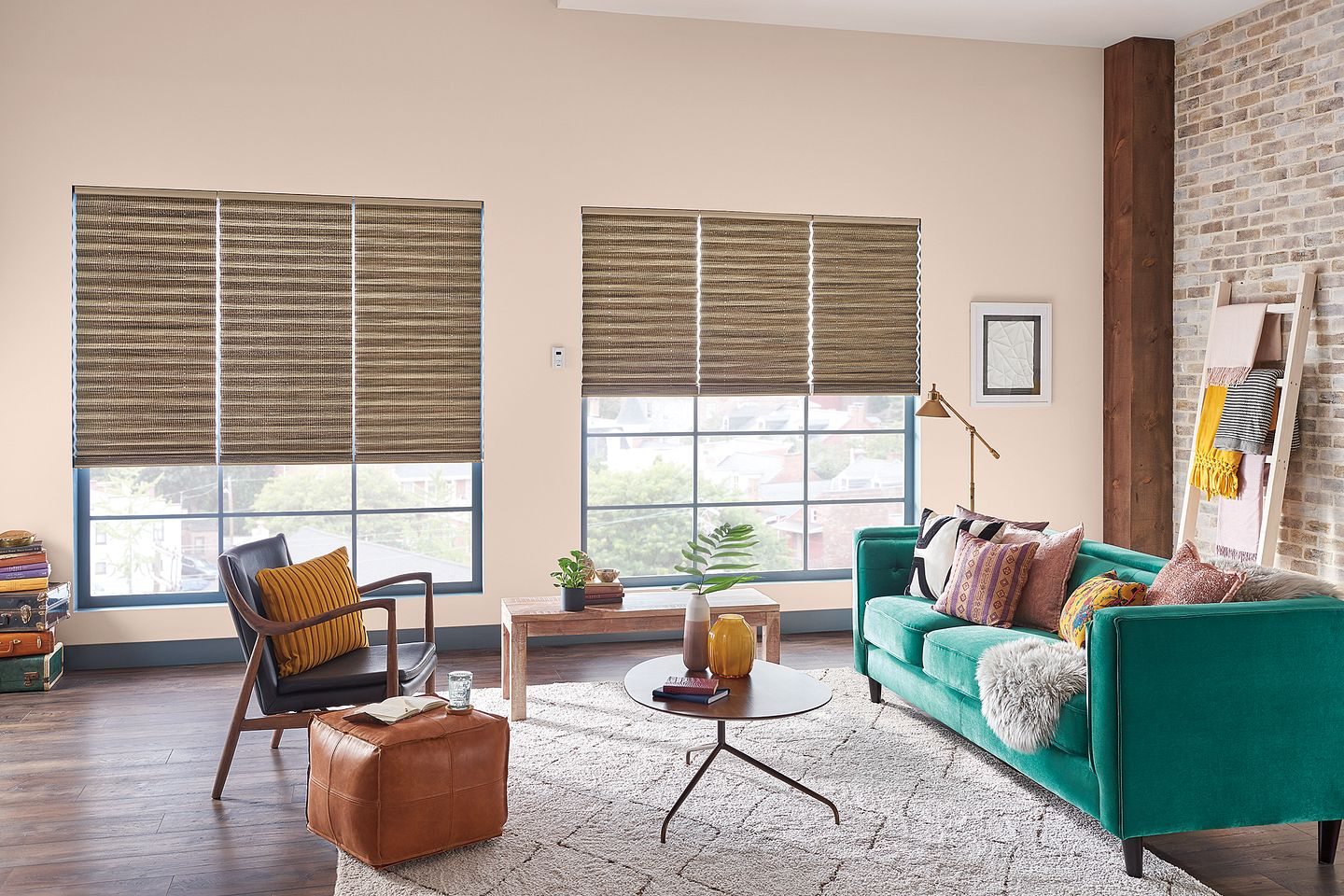 Bali Pleated Shades with Motorized Lift